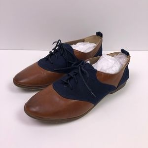 Vintage Style Oxford Wing Tip Shoes
